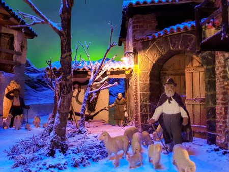 the crib is an artistic reconstruction of places and characters during the advent of Jesus