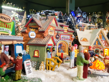 reconstruction in 3d scenography an enchanting Christmas village