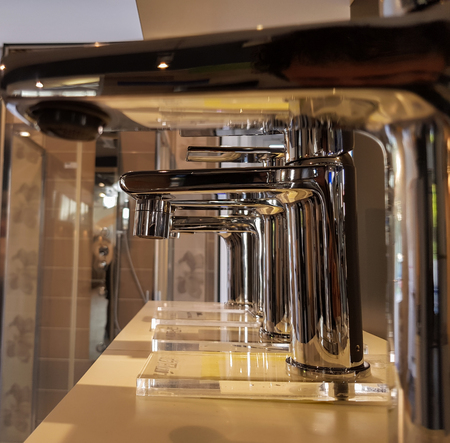 show of stainless steel taps