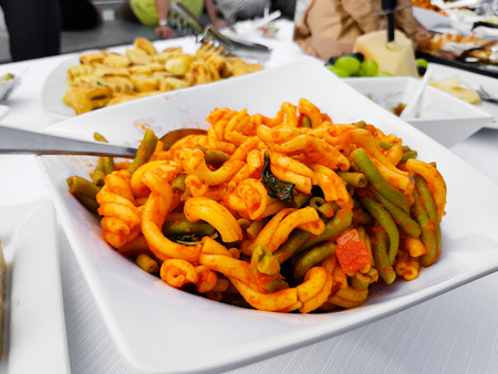 table served foods for tasty happy hours