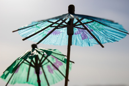 the summer umbrella made of rice paper is a symbol of leisure