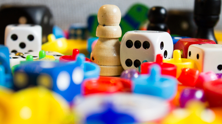 mix of colorful little games for young and old