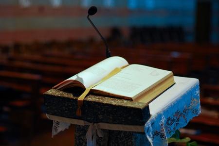 preaching: church Stock Photo