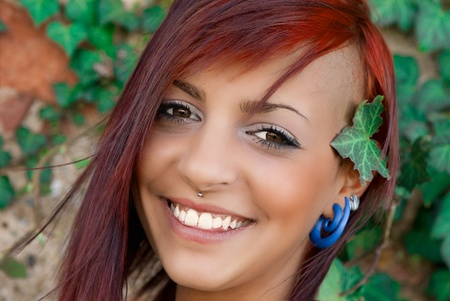 portrait of girl with red hair photo