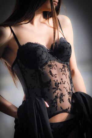 Full black underwear Stock Photo - 13305525