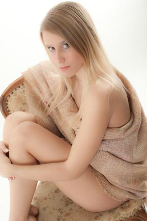 sexy blonde girl: sexy blondynka Zdjęcie Seryjne