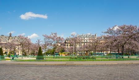 Place d39Italie in Paris bloom. photo