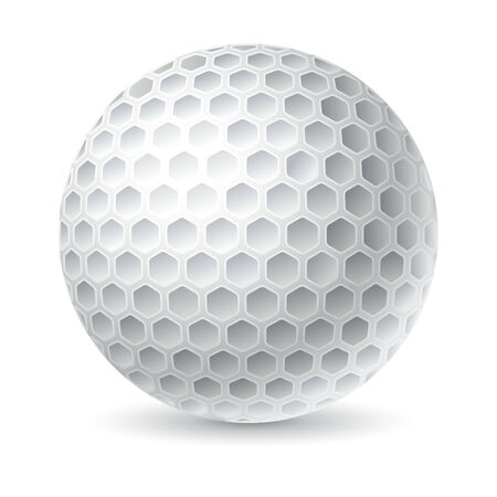 dimple: vector illustration of  Golf ball