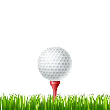 illustration of Golf ball on a tee Vector