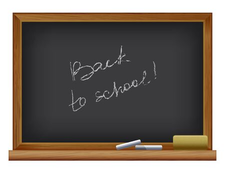 vector illustration of Blackboard. Back to school Vector