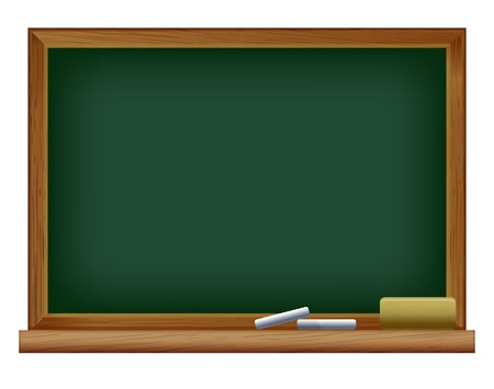 vector illustration of Green blank blackboard Vector