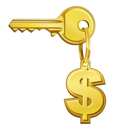 dwell: vector illustration of Key to money