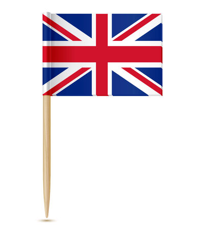 british flag: vector illustration of United Kingdom flag toothpick