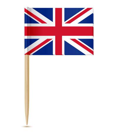 toothpick: vector illustration of United Kingdom flag toothpick
