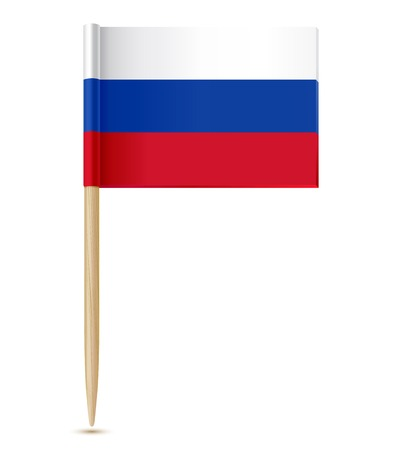 russian food: vector illustration of Russian flag toothpick