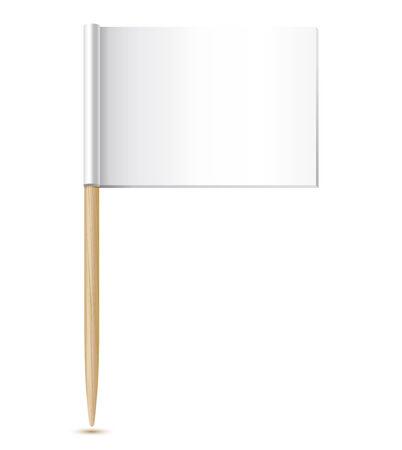 toothpick: empty flag toothpick icon illustration