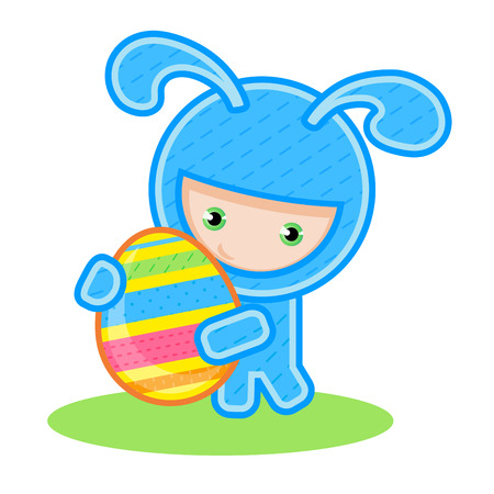 vector illustration bunny with egg Vector