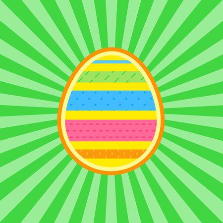poult: ilustraci�n vectorial de huevo coloreado