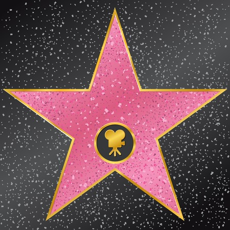 famous star: vector illustration of star. Hollywood Walk of Fame