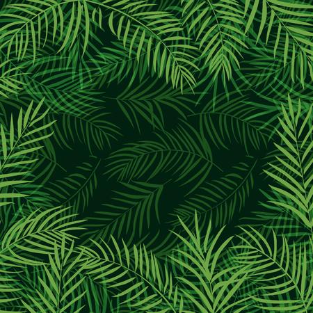 10eps: frame tropical palm leaf 10eps