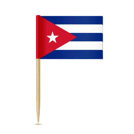 toothpick: Cuba flag toothpick. Vector illustration