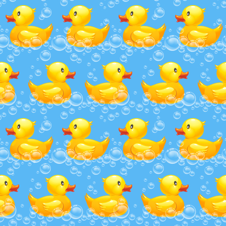 rubber duck seamless pattern