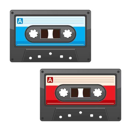 disuse: cassette tape isolated on white background Illustration