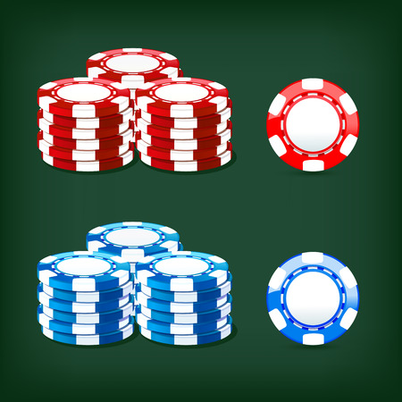 colored illustration chips casino icon Illustration
