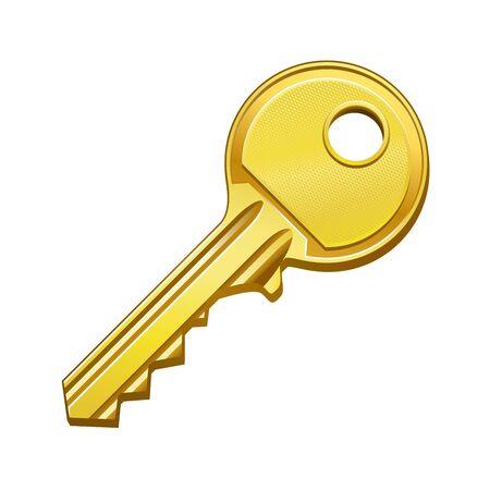 dwell: vector illustration of gold key Illustration