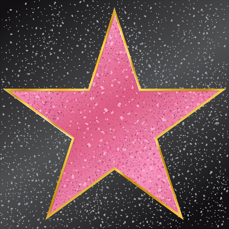 Star.  Walk of Fame
