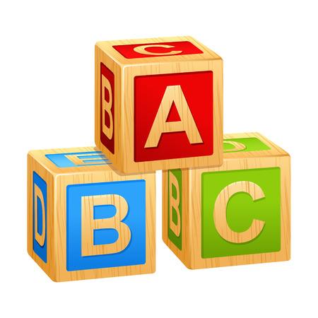 cubes alphabet A, B, C