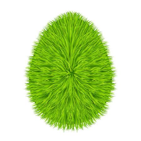 Grass egg symbol Illustration
