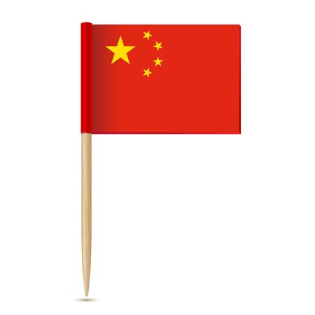 Vlag van China. Vlag tandenstoker 10eps