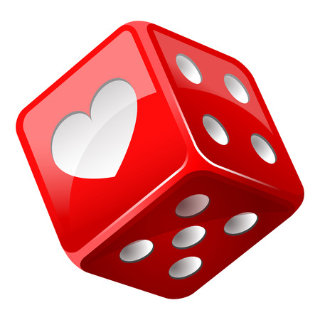 red dice: red dice Illustration