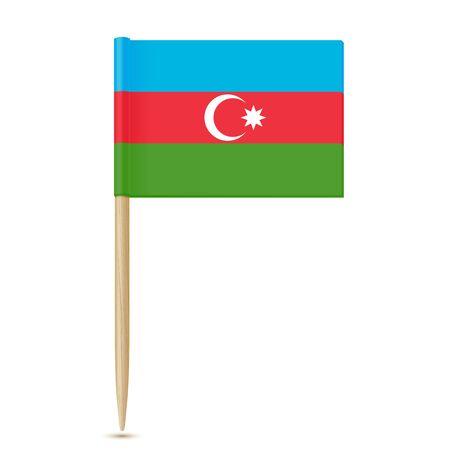 Stuzzicadenti bandiera azerbaigiana Vettoriali