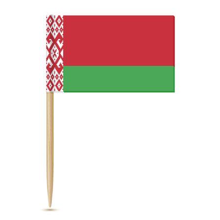 toothpick: Belarus flag toothpick 10eps Illustration