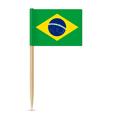 Stuzzicadenti bandiera del Brasile 10eps