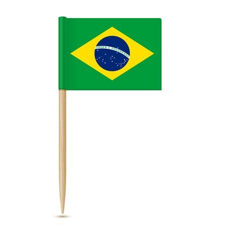 Stuzzicadenti bandiera del Brasile 10eps Vettoriali