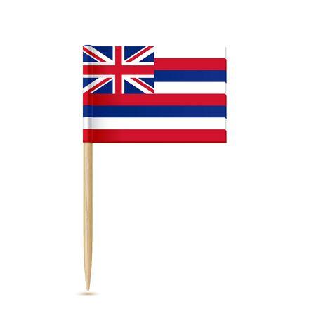 Palissandre au drapeau Hawaii Vecteurs