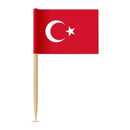 toothpick: Turkey flag. Flag toothpick