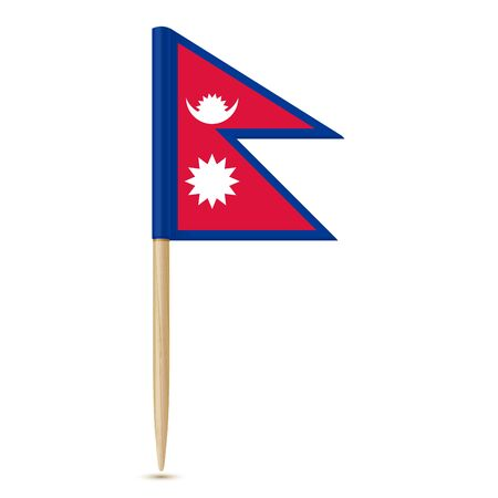 flag: Flag of Nepal. Illustration