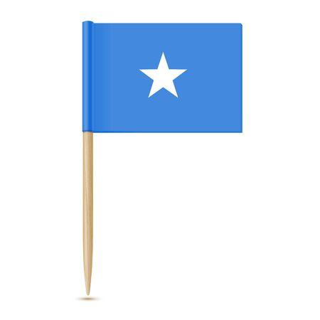 Flag of Somalia Reklamní fotografie - 80765417