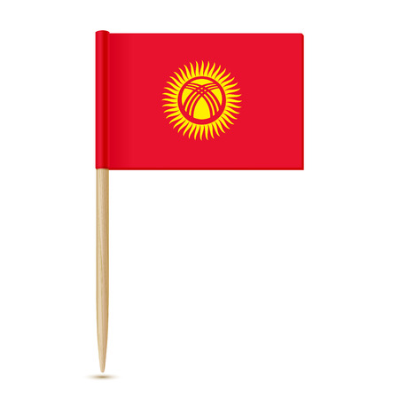 Kyrgyzstan flag in toothpick 向量圖像