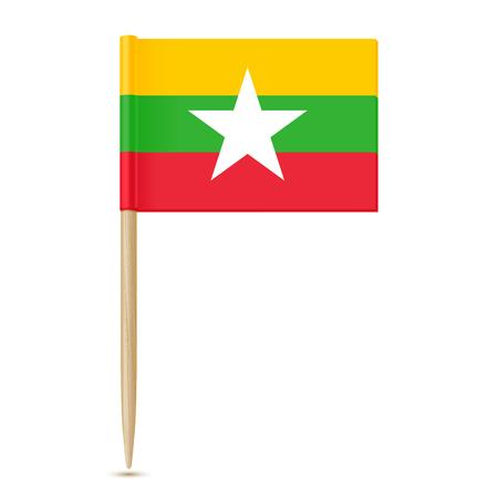 미얀마의 국기. 이쑤시개 신고하기