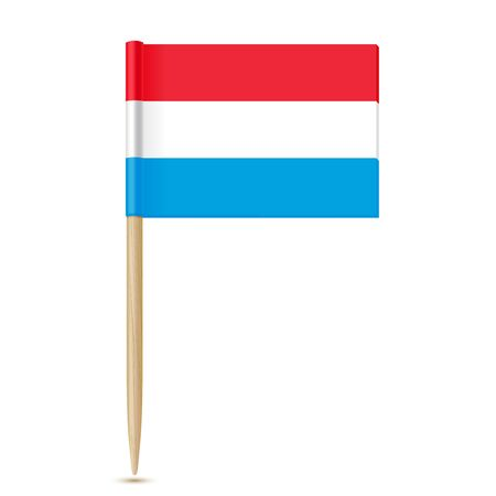 toothpick: Luxembourg flag toothpick