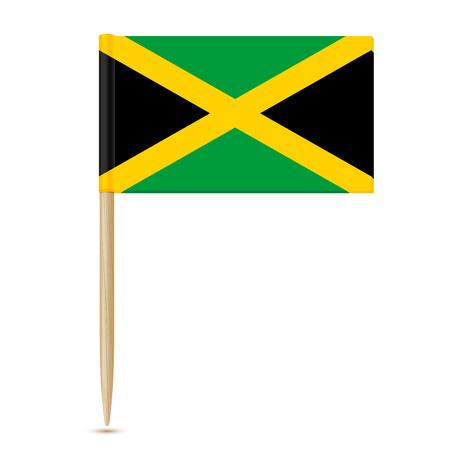 toothpick: Jamaica Flag toothpick 10eps Illustration