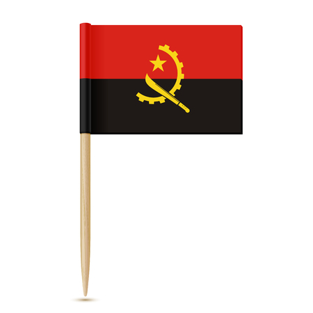 flag: Flag of Angola. Flag toothpick 10eps