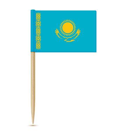Flag of Kazakhstan. Flag toothpick 10eps Reklamní fotografie - 80785380