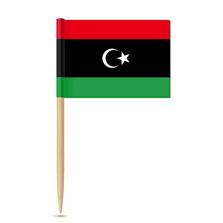 Flag of Libya. Flag toothpick on white background Reklamní fotografie - 80853550