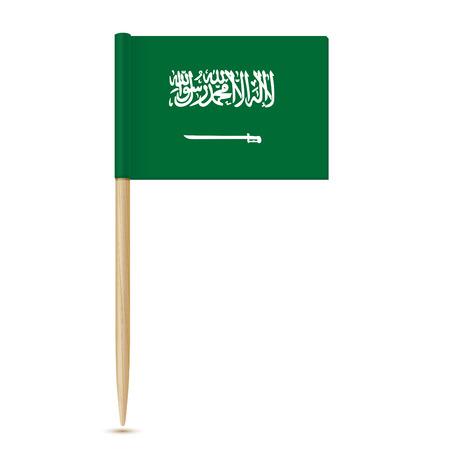 Flag of Saudi Arabia. Flag toothpick